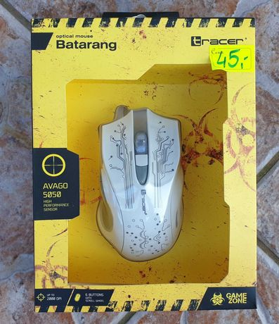 Mysz Gracza Tracer Batarang Avago 2000dpi Gaming, myszka NOWA
