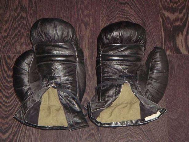 Боксерские перчатки,кожа натуральная СССР.