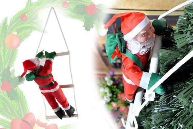 Дед Мороз на лестнице водонепроницаемый Санта Клаус / Большой