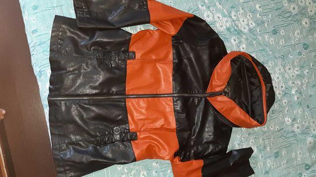 Куртка легкая кожзам