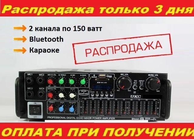 ⫸Усилитель звука 2х150w к колонкам Романтика Маяк Радиотехника Ресивер