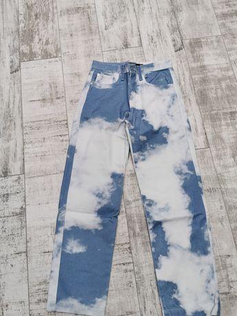 Spodnie Nowe Cloud Print skate fit Jeans