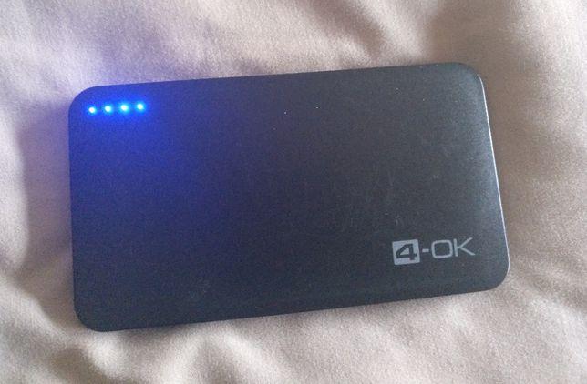 Powerbank 4-OK Slim 4.0 4000 mAh bateria portátil externa