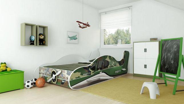 Łóżko dziecięce SAMOLOT 160x80 z Materacem Dostawa Gratis!