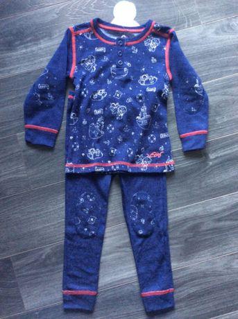 Zestaw Cubus Elias / piżama / belizna termiczna 100% wełna merino r.92