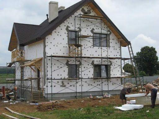 Утеплення фасаду будинку Мінеральна вата Пінопласт Штукатурка Клей