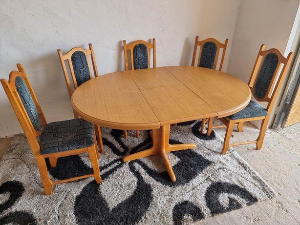 Stół składamy i 5 krzeseł