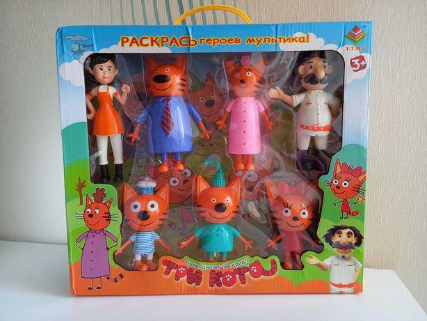 Игровые фигурки игровой набор игрушки семья 3 Три кота 7 героев