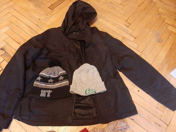 Куртка xl женская, шапки