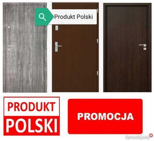 Polskie drzwi wejściowe z Montażem do mieszkań w bloku, cały zestaw