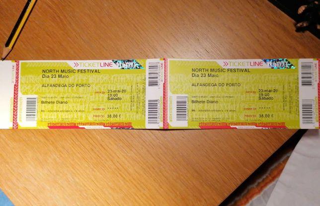 Vendo dois bilhetes para o North Music Festival - 2 de outubro