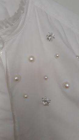 Biała Tunika mama H&M