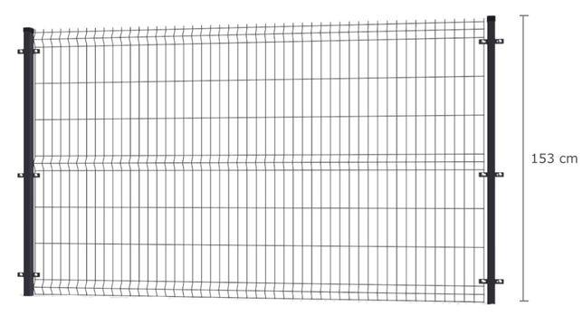 Promocja! Ogrodzenie panelowe panel ogrodzeniowy 153 Panel 3D GRAFIT