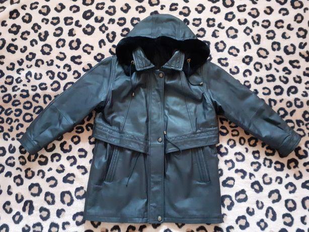 Женская кожаная куртка. Демисезон. 46-48р. L-M.