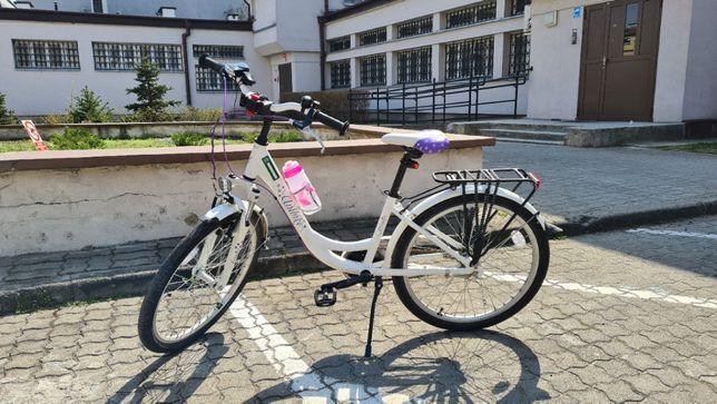 """Rower Unibike Princess 24"""" biały"""