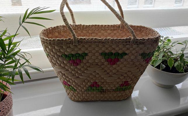 Wiklinowy koszyczek torebka