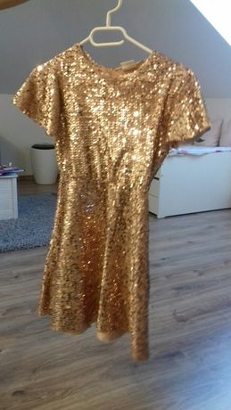 Sukienka cekinami Zara