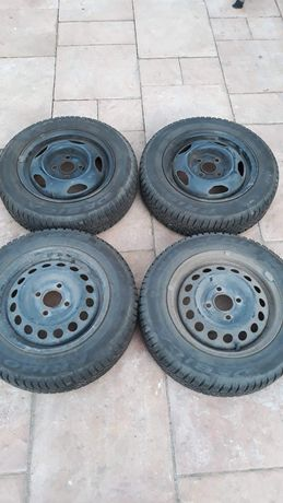 Koła Volkswagen Lupo, opony zimowe, stalowe felgi, 13 cali 155/70/R13