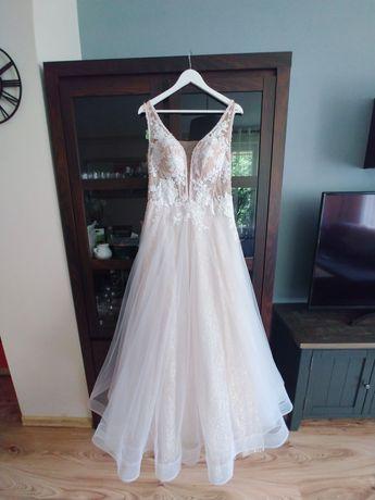 Mega okazja ! Piękna suknia ślubna 38/40, M/L Boho , romantyczna CUDO