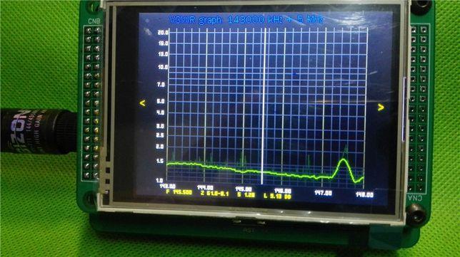 """Прибор для настройки антенн (3.2"""" TFT LCD; 0,1…60 и 143…148Мгц.)"""