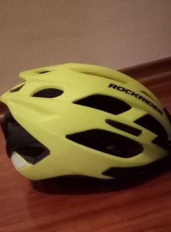 Kask rowerowy MTB rozmiar L 56-61 cm neonowy -Bądź widoczny!