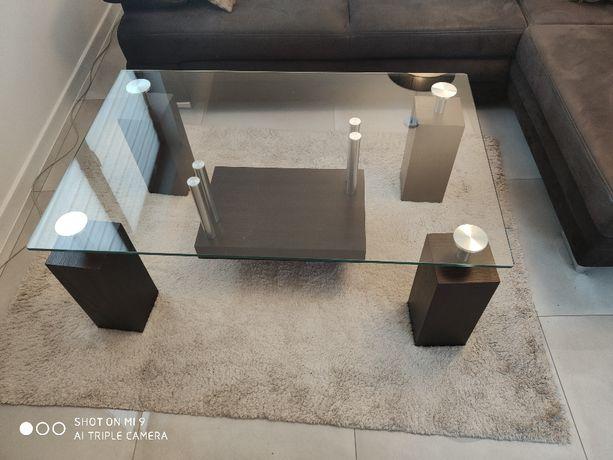Szklana ława stół stolik