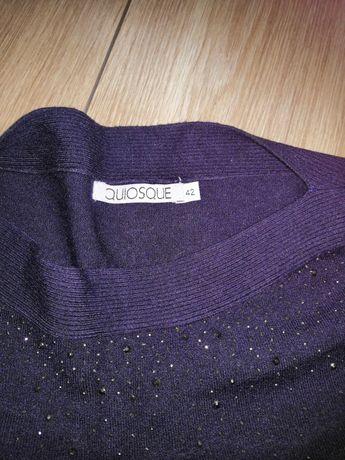 Sweter 42 granatowy