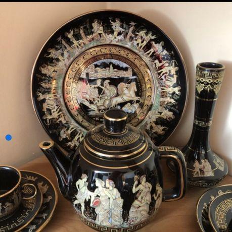 Porcelana Grecka KRATIMENOS 24 K złoto.