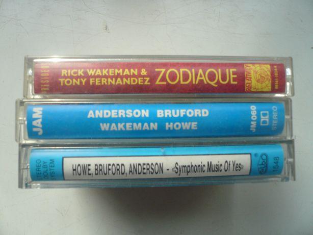 wyprzedaż kolekci kaset magnetof. audio Anderson Bruford Wakeman Howe