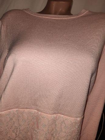 Шикарный кружевной свитер туника р 50-54