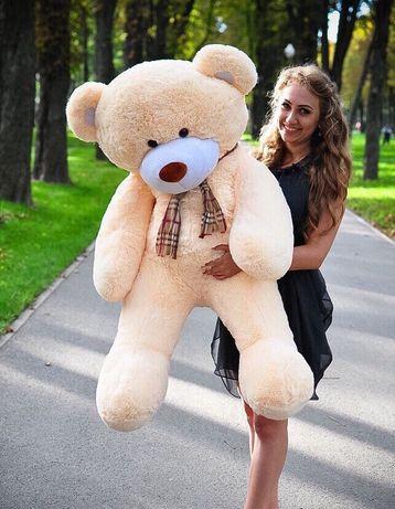Великий плюшевий мішка мякий ведмідь ведмедик на подарунок