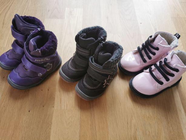 Buty zimowe, Kozaczki ocieplane, rozmiar 22-23