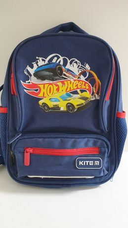 Рюкзак дошкольный Kite Kids 29х23х9 см 6 л Синий Hot Wheels (HW19-559X