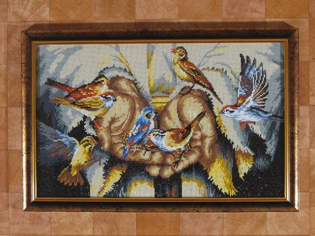 """Продам картину ручной работы в стиле алмазной мозаики """"В его руках"""""""