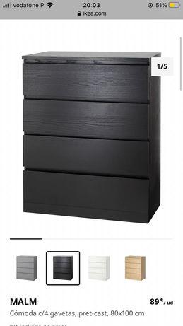 Duas Comodas MALM Ikea Pret/Cast