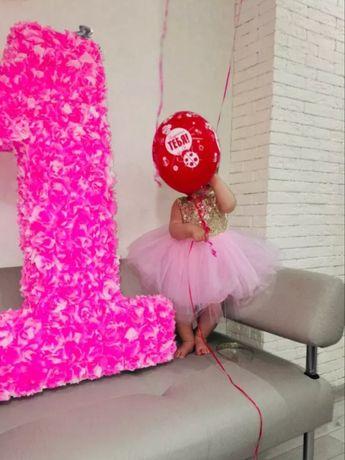 Платье плаття на дівчинку з 1го року, паєтка та фатін