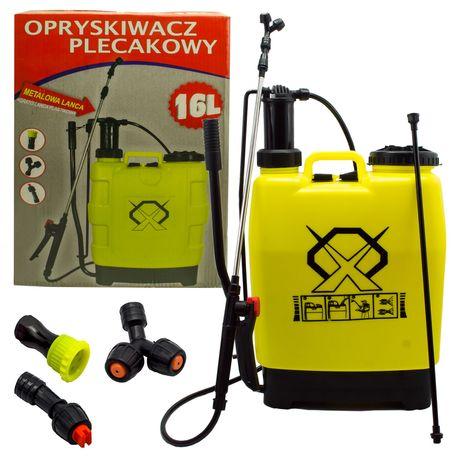 Opryskiwacz ciśnieniowy plecakowy 16l ręczny 3xd [OGR92]