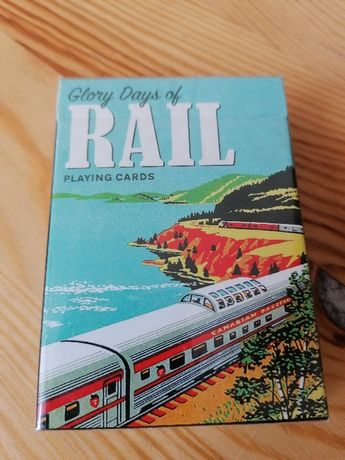 Karty do gry PIATNIK Czasy świetności kolei nowe