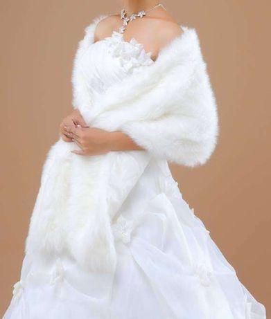 estola echarpe de pelo nova para noiva ou cerimonia