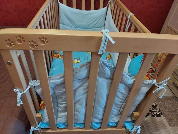 Продам детскую кроватку Верес Соня ЛД12 с матрасом