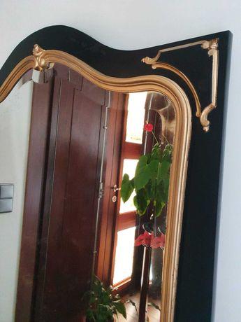 Espelho lacado a preto e dourado
