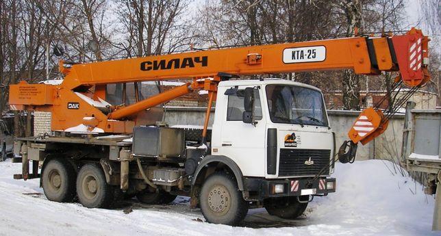 Аренда/услуги автокрана 25 тонн (22м). Днепр, область, Украина, НДС