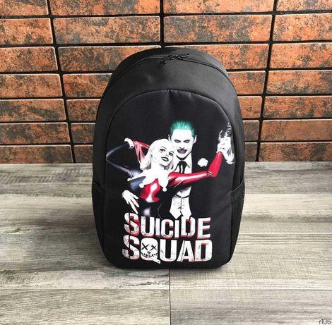 Без предоплаты. Рюкзак Suicide Squad. Портфель для школы. Топ принт.