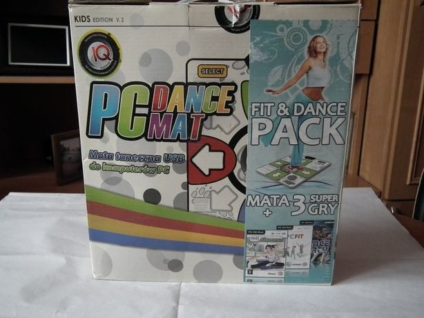Mata + 3 gry Dance Party, fit, Mój Fitness (Gra PC)
