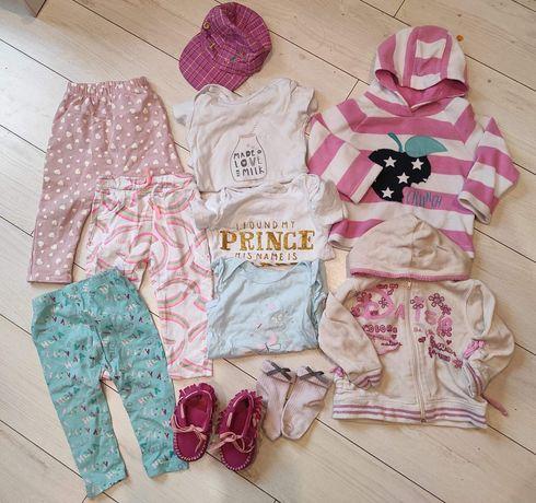ubranka dla dziewczynki legginsy, body, bluza, niechodki