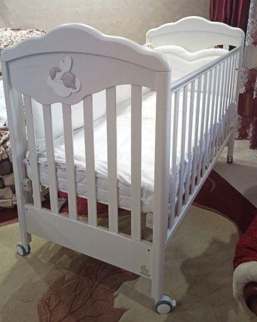Детская кроватка ltalbaby + матрасик и бампер