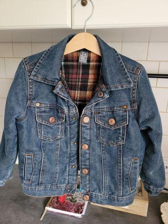 ZARA 104 cm kurtka jeansowa z podpinką- przejściowa. J.nowa! Polecam