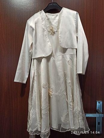 Sukienka biała ślub wesele komunia