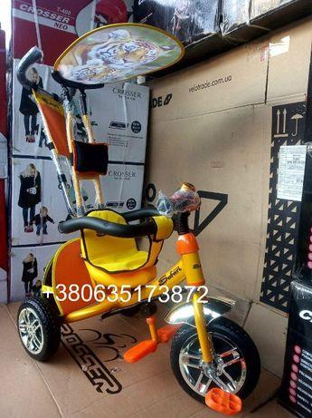 Велосипед детский,доступный каждому,с управляемой ручкой Azimut Safari
