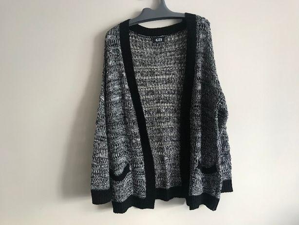 Kardigan sweterek ażurowy czarno-białyGeorge roz40
